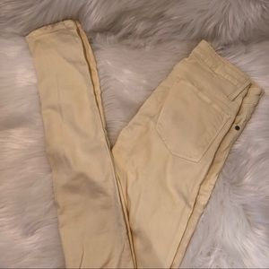 💥 3/$25 Helmut Lang Yellow Jeggings Size 25
